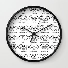 how do you feel? Black & White Wall Clock