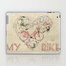 I Love My Bike Laptop & iPad Skin