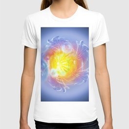 Abstract in blue 4 T-shirt