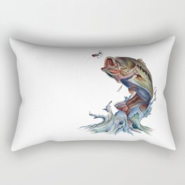 Bass Fish Rectangular Pillow