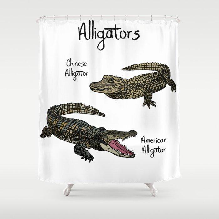 Alligators Shower Curtain By, Alligator Shower Curtain