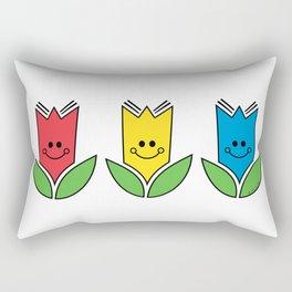 Flowers Of Primary Colors - Fleurs Aux Couleurs Primaires Rectangular Pillow