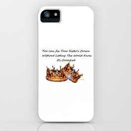 SISTERS KEEPERS iPhone Case