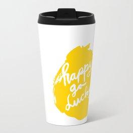 Happy Go Lucky Travel Mug