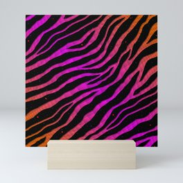 Ripped SpaceTime Stripes - Orange/Pink Mini Art Print