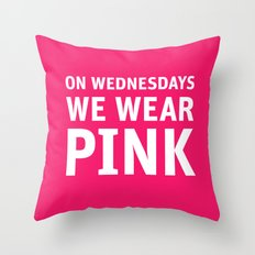 Mean Girls #11 – Pink Wednesday Throw Pillow
