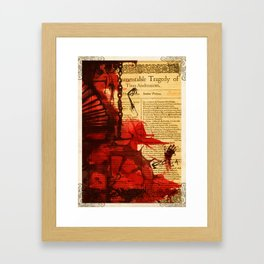 Titus Andronicus - Bloody Shakespeare Tragedy Folio Illustration Framed Art Print