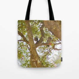Incense tree with pigeons Tote Bag