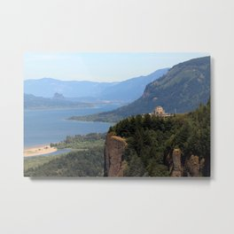 Columbia River Gorge Vista House Metal Print