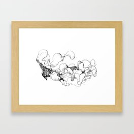 Socked in Squamish Framed Art Print