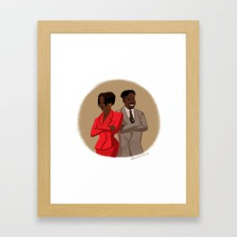 Maxine Shaw and Kyle Barker / Living Single Framed Art Print