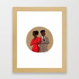 Maxine Shaw and Kyle Barker / Living Single Framed Art Print