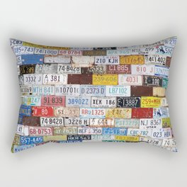 State License Plate Collage Rectangular Pillow
