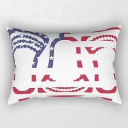 Lacrosse US Flag Head Trio Rectangular Pillow