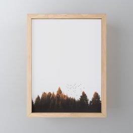 Fall forest Framed Mini Art Print