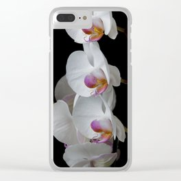 White Orchids Clear iPhone Case