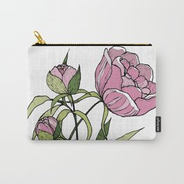 Pink peony Carry-All Pouch