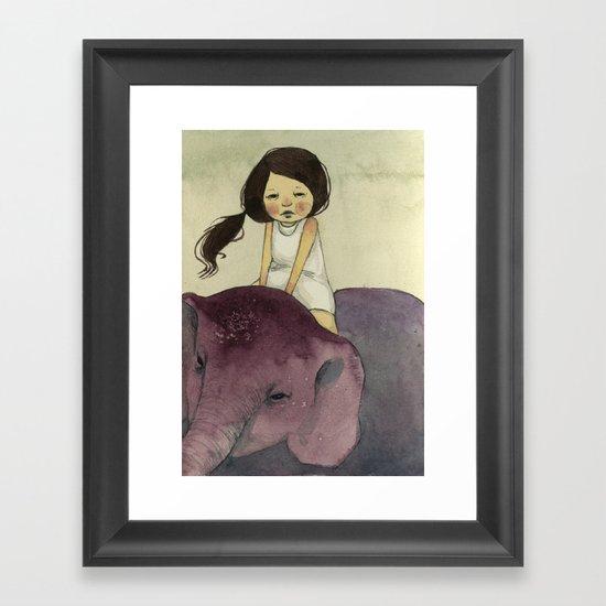 Elephant Girl Framed Art Print