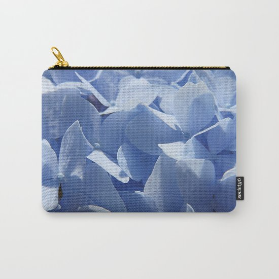 Blue hydrangea in LOVE- Flower floral Carry-All Pouch