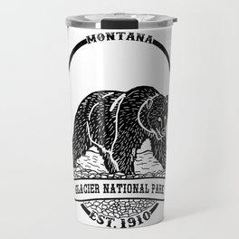 Glacier National Park Emblem Travel Mug