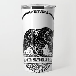 Glacier National Park Emblem Travel Mug
