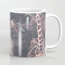 Giraffe Picture // Spotted Long Neck Graceful Creatures in Wildlife Preserve Coffee Mug