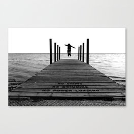 Living On The Edge Canvas Print