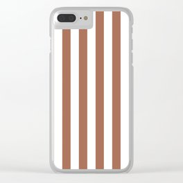Sherwin Williams Cavern Clay SW7701 Uniform Stripes Fat Vertical Lines Clear iPhone Case