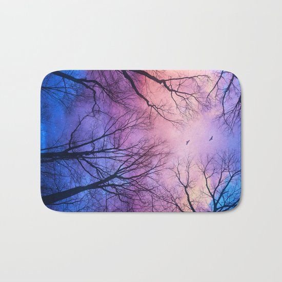 A New Day Will Dawn  (Day Tree Silhouettes) Bath Mat