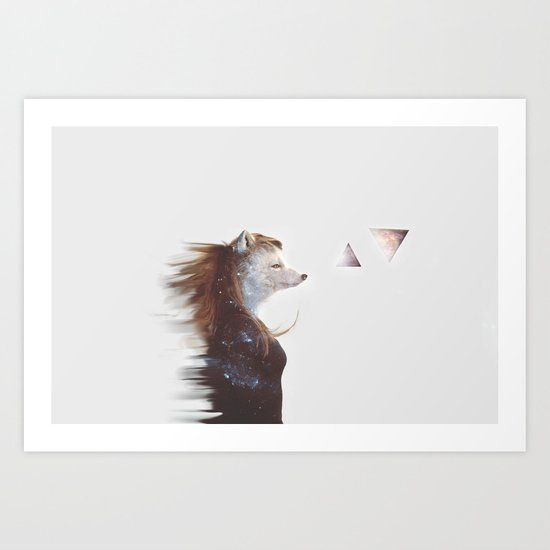 Arctic Fox Art Print