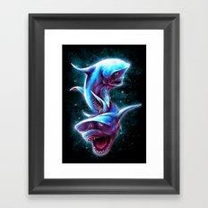 Bull Sharks Framed Art Print