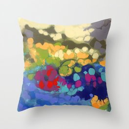 Tide Pool Reflections Throw Pillow