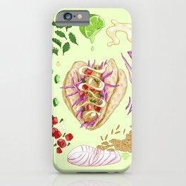 Fish Taco Diagram iPhone Case