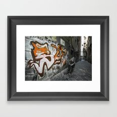Neapolitan Graffiti Scoot Framed Art Print