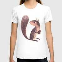 squirrel T-shirts featuring Squirrel by Chuck Groenink