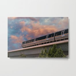 Rapid Transit Train Metal Print