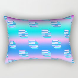 Digital Cubes Pattern Rectangular Pillow