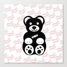 Black Teddy Bear Canvas Print