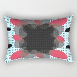 Abstract Dotty Floral Burst Pattern Rectangular Pillow