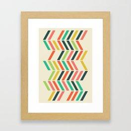 Color line pattern Framed Art Print