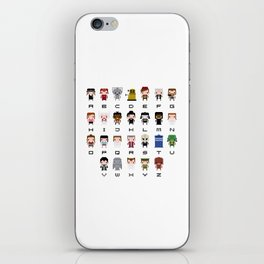 Doctor Who Alphabet iPhone Skin