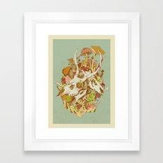 skulls in spring Framed Art Print