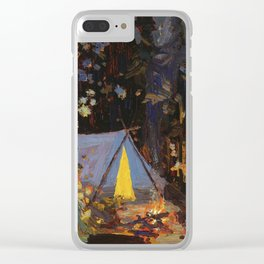 Tom Thomson Campfire 1916 Canadian Landscape Artist Clear iPhone Case