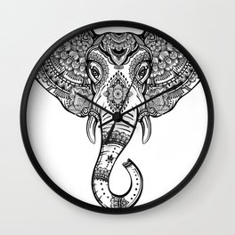 Boho Elephant Wall Clock