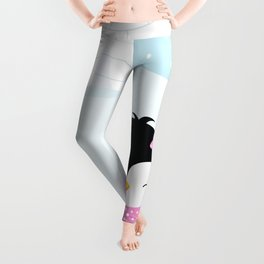 Cute penguin girl  Leggings
