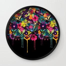 Flowers Melting Wall Clock
