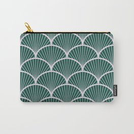 Emeral grey petal geometric pattern Carry-All Pouch