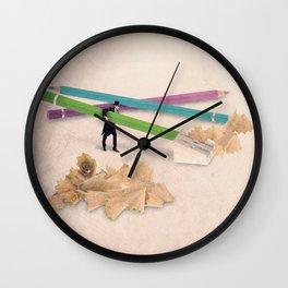 The pencil sharpener Wall Clock