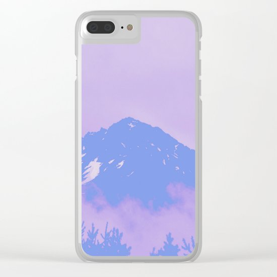 Alaska Mountain Abstract - PWP Clear iPhone Case