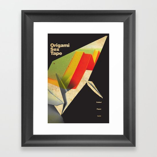 Origami Sex Tape Framed Art Print